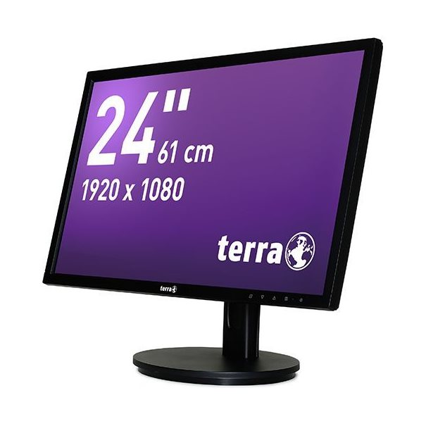 Ecran Full HD TERRA LED 24'' Noir DP+HDMI