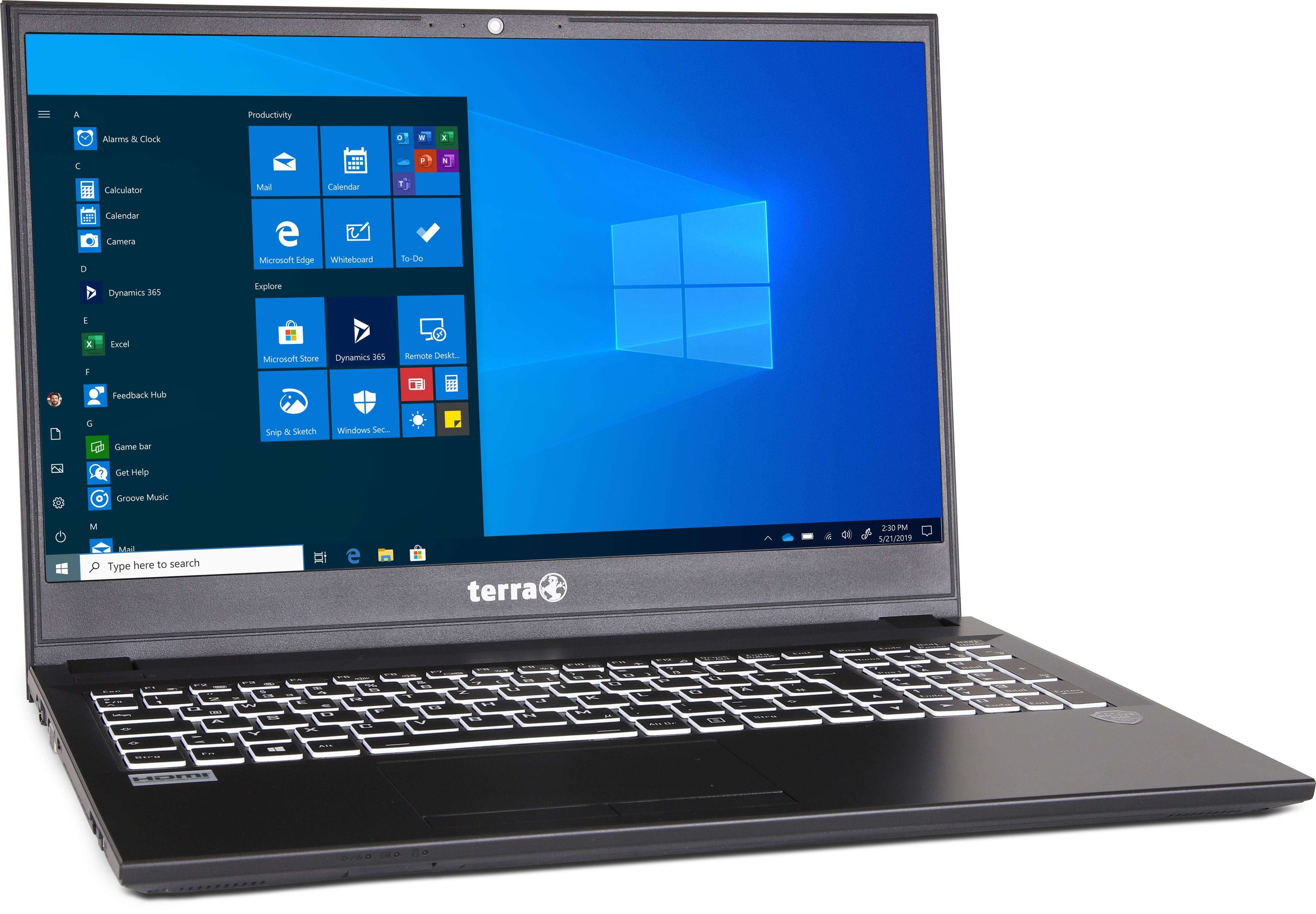 Terra i5-10210U, SSD 500 Go, Ram 8 Go, Full HD 15,6p (pc portable)